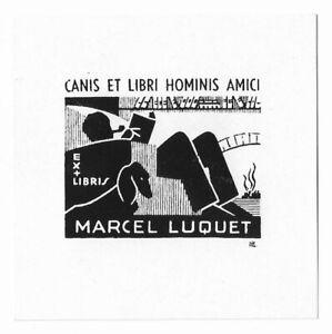 MARCEL LUQUET: Eigen-Exlibris, Dackel