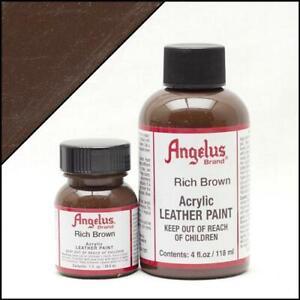 Angelus Acryl Lederfarbe Sattes Braun (181) 29,5ml (20,17€/100ml) Leder