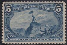 USA Scott #288 5ct TransMiss Mint OG HR XF Centering CV $100