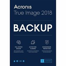 Brand New Acronis True Image 2018 - 3 Device Factory-Sealed U.S. Retail Box
