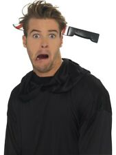 Horror Knife Through Headband Plastic Halloween Fancy Dress Accessory