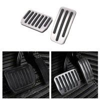 2pcs Aluminum Car Brake Foot Rest Pedals Kit Special For Honda CRV Sliver CC