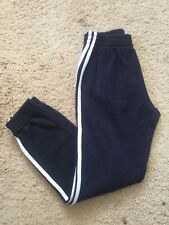 brandy melville navy/white pull-up cotton rosa thermal sweatpants NWT sz S