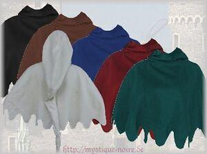 Medieval Wool Cowl Long Pointed Hood German Gugel Renaisance SCA Larp Wicca