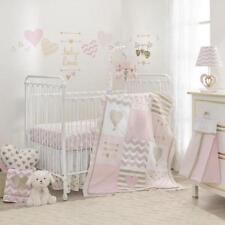 Lambs & Ivy Baby Love 6-Pc Crib Bedding Set Include Blanket/Changing Pad Cover