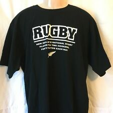 RUGBY New Zealand's National Sport Men's T Shirt Size L (excellent) (T66)