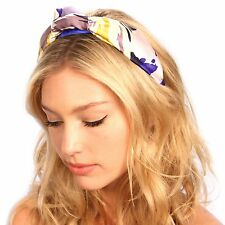 Floral Silk Knot Turban Headband Hat Festival Headpiece Hair Accessories
