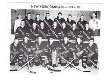Vintage NHL Hockey 1949-50 New York Rangers B/W Team Postcard