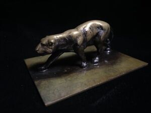 Vintage Holger Fridericias Ildfast Denmark Bronze Lion or Panther Paperweight