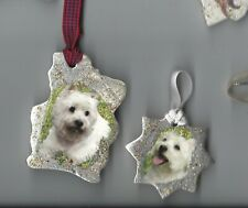 West Highland White Terrier Dog Ceramic Hand Made Xmas Decoration - NEW - L@@K!