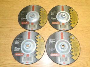 4x Metabo 655282000 - 7 in x 1/8 in A24T Type 27 Pipeline Wheel