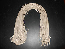"(1) Beige Superior Deer Lace or Buckskin Lace 1/8th""x 6' Long. Soft and Durable"