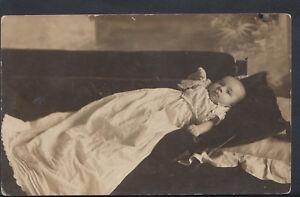 Genealogy Postcard - Ancestor Real Photo - Baby Called Leycester Evans RS4863
