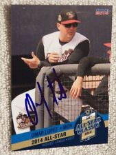 Omar Lopez Signed 2014 MWL All-Star Auto Quad City River Bandits Houston Astros