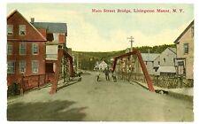 Livingston Manor NY - MAIN STREET BRIDGE - Postcard Sullivan County
