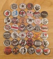 Superb Job Lot Of 40 Anti Fascist Button Badges