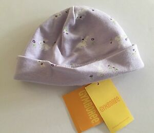NWT Gymboree Snappy Dresser Up to 7 lbs Girls Lavender Bunny Rabbit Beanie Hat