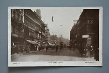 R&L Postcard: Boar Lane Leeds, Rotary Real Photo, Shop Front Tram
