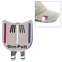 Silber Golf Ball Marker Putting Ausrichtung Ziel Werkzeug Magnethaken Cli XXzz