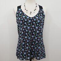 Banana Republic Women's Blue Floral Print Dressy Tank Top Size S