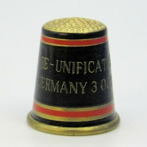 BRASS THIMBLE, GERMAN UNIFICATION, WITH COA, TJ005, OCTOBER 1990 LIMITED EDITION