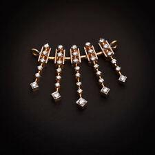 Stunning 0.69 Cts Round Brilliant Cut Diamonds Mangalsutra Pendant In 14K Gold