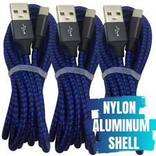 3 Pack 3m USB Fast Charger Cable Braided for Apple iPhone 11 XR X Charging Cord