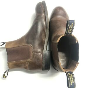 Baxter Mens Slip On Boots Leather Size 12 Redish Brown