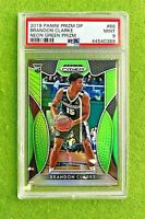 BRANDON CLARKE PRIZM ROOKIE CARD GRADED PSA 9 MINT RC NEON GREEN #/125 SP Panini
