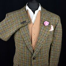 Vtg Harris Tweed Tailored Country Brown Hacking Jacket 44S #517 SUPERB GARMENT