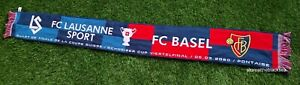 FC LAUSANNE SPORT FC BASEL SWISS CUP 2020 SCARF FOOTBALL SOCCER ONE SIZE UNISEX