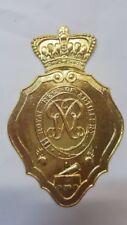 Napoleonic -  1812 British Artillery  Shako Plate Pressed Brass