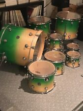 DW Performance Drumset Green fade to natural Riesenset tolles Set mit Hardware