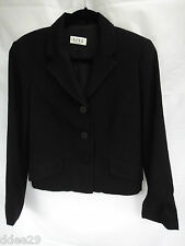 BCBG Max Azira Ladies Black Button up Jacket Size 6 US/10 AUS
