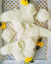 """Loopy Baby Cardigans Sweater Bonnet & Hat  Knitting Pattern DK 16"""" - 24"""""""