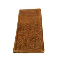 Montana West Men's long Wallet Genuine Tooled Leather Western Cowboy Wallet