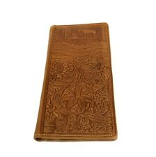 Montana West Men's Wallet Genuine Tooled Leather Western Cowboy Long Wallet