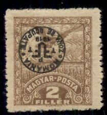 HUNGARY 2nd DEBRECEN issue, 1920, 3N1, 2f INVERTED OVPT, LH, VF