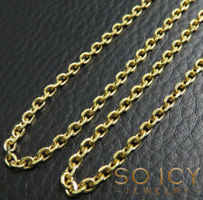"24"" 2.5mm 10 Grams 14k Yellow SOLID real Gold Rolo Cable Box Chain Necklace"