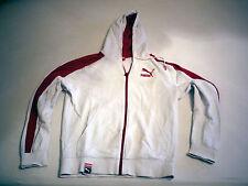Original Puma Trainingsjacke in weiß Kapuzenpulli Retro Vintage Größe S 44/46