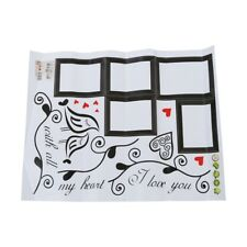 Amore Uccelli Photo Frame Art Wall Stickers Decalcomania Romantico Room Dec A6N8