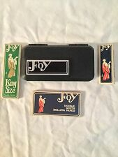 Vintage New Unused Foy Brings Joy Tobacco 3 Rolling Papers and 1 Case Rare