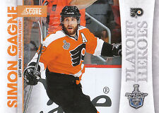 10/11 SCORE PLAYOFF HEROES STANLEY CUP #11 SIMON GAGNE FLYERS *9019