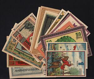 1920's Germany Notgeld Lot 20 Vintage Old Emergency Money Banknote Collection 2