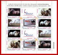 ESPAÑA Nº 3679/3684A **  2000 MINIPLIEGO CABALLOS CARTUJANOS 1999  NUEVOS