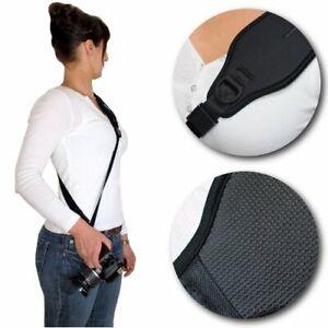 Neopren Kameragurt Schultergurt sling neck strap verstellbar passend für DSLR