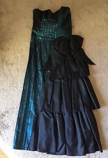 Vintage Electra T D 4 Teal Formal Prom Dress Gown Size 7/8 Strapless