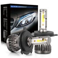 2x H4 1200W 200000LM COB LED Car Headlight Kit Hi/Lo Beam Light Bulb White 6000K