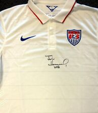 "TEAM USA TIM HOWARD AUTOGRAPHED WHITE NIKE JERSEY ""USA"" SIZE XXL JSA 81781"