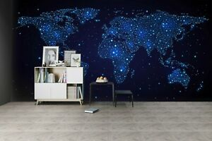 3D Blue Constellation KEP996 Wallpaper Mural Self-adhesive Removable Sticker Bea